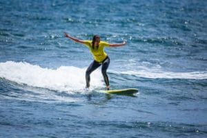 Surf Lesson in the water with Surf Life Tenerife